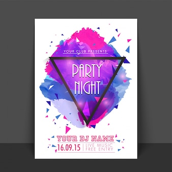 Business brochure entertainment disco splash