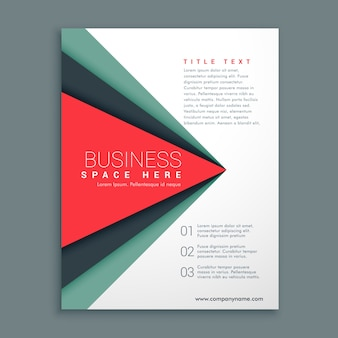 Business brochure template with abstract triangular shapes