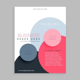Business brochure template with colorful circular shapes