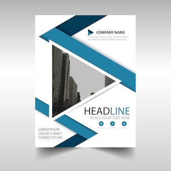 Business brochure template with geometrical triangle shapes
