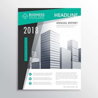 Business brochure with bright colors