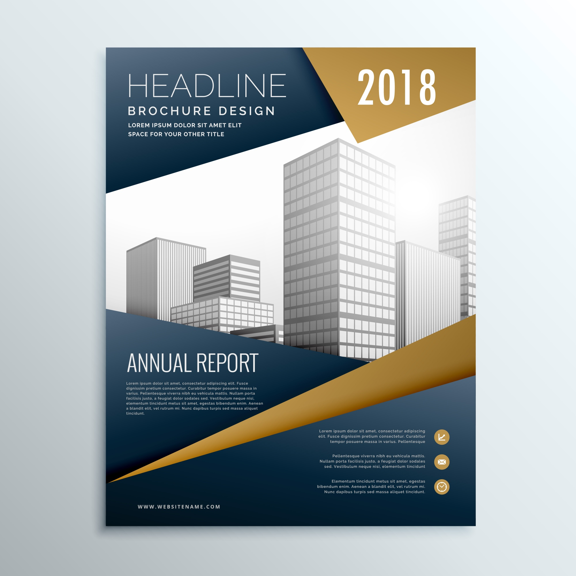 Business brochure with brown and black tones