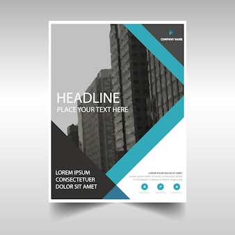 Business brochure with creative stripes