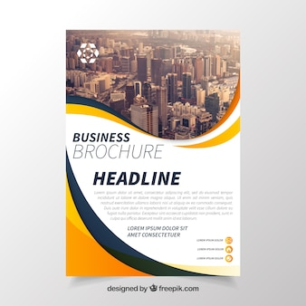 Business brochure with elegant style