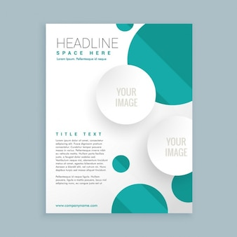 Business brochure with flat circles