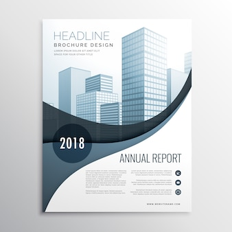 Business brochure with gray tones