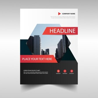 Business brochure with hexagon