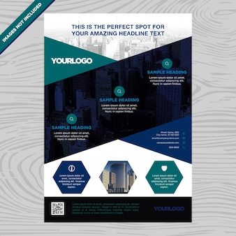 Business brochure with hexagons