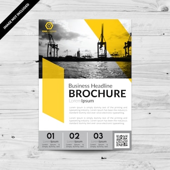 Business brochure with numbers and yellow color