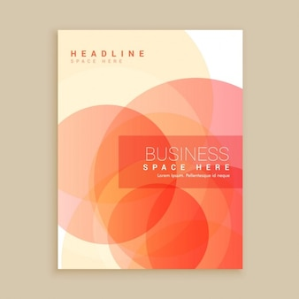 Business brochure with red circles
