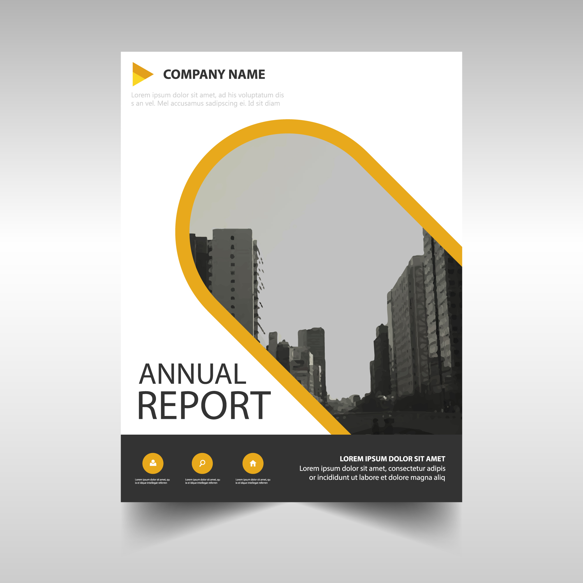 Business brochure with round shapes
