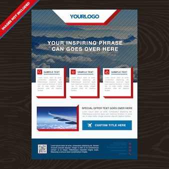 Business brochure with squares