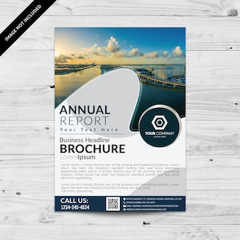 Business brochure with wave design