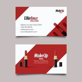 Business card about cosmetics