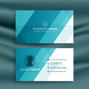 Business card, blue