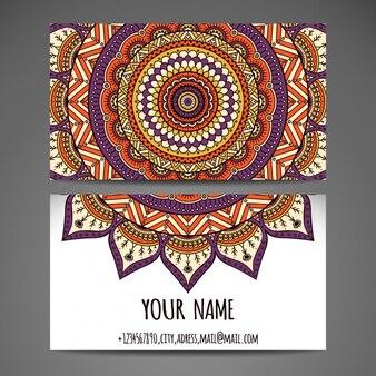 Business card design with mandala