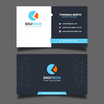 Business card for a technology business