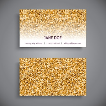 Business card glitter style