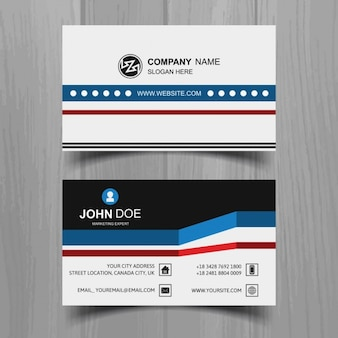 business card in abstract design