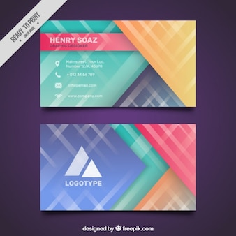 Business card in beautiful colors