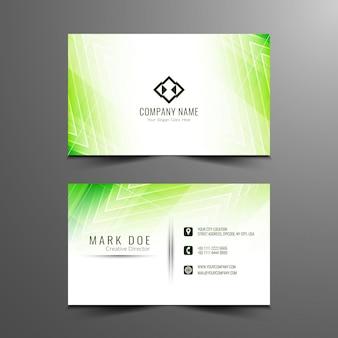 抽象的なモダンな緑の幾何学的なビジネスカード