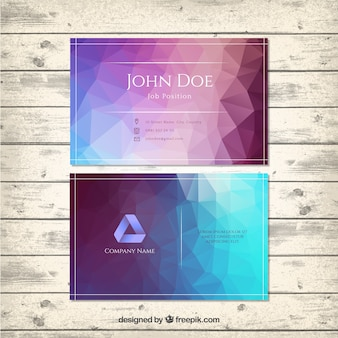 Business card in low poly style
