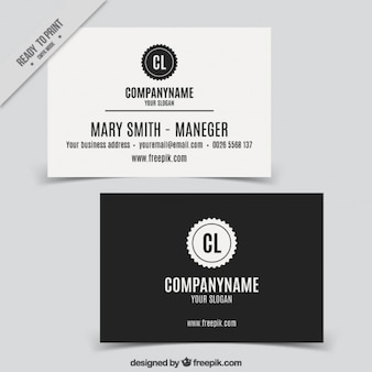 Business card in retro style