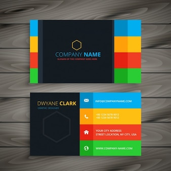 Business card of colorful stripes