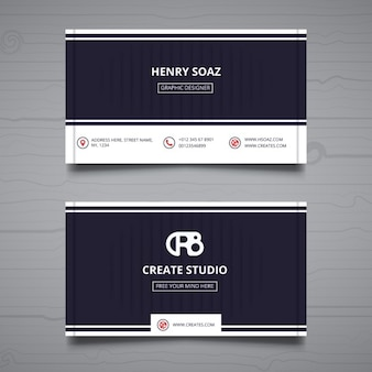 Business card on a gray background
