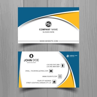 Business card template in modern style