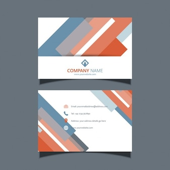 Business card template with a modern design