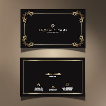 Business card template with an elegant design
