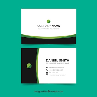 Business card template with elegant style