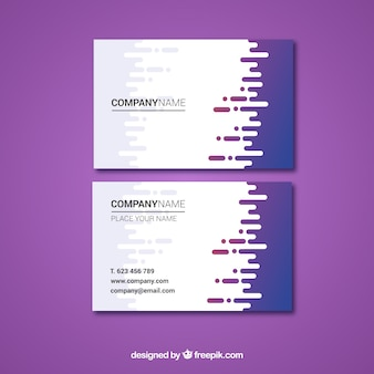 Business card template with fun style