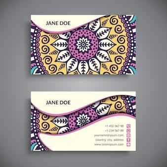 Business card. Vintage decorative elements.