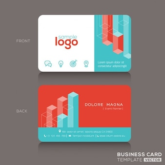 Business card with 3d geometric shapes