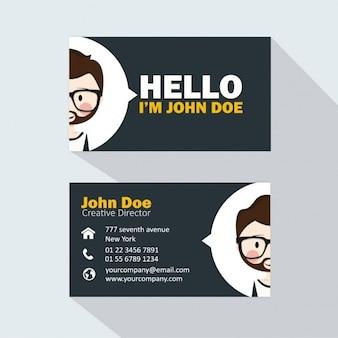 Business card with a boy avatar