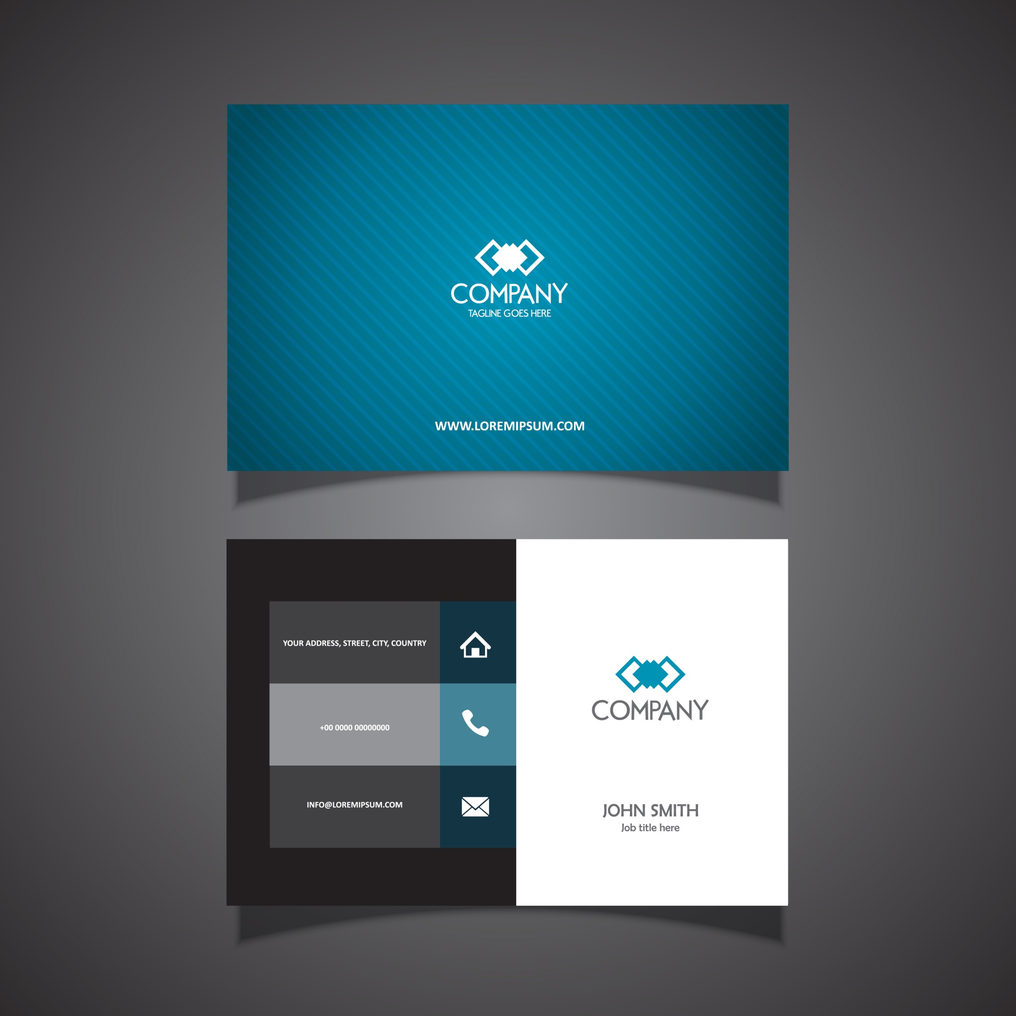 Business card with a clean modern design