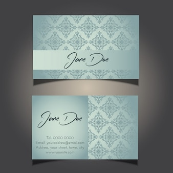 Business card with a decorative design