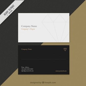 Business card with a diamond