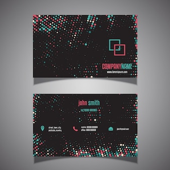 Business card with a halftone dots