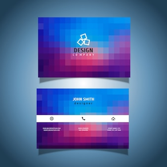 Business card with a pixel design