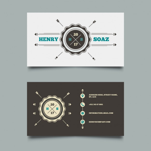 Business card with a vintage logo