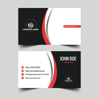 Business card with abstract detail