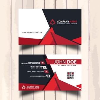 Business card with abstract geometric shapes
