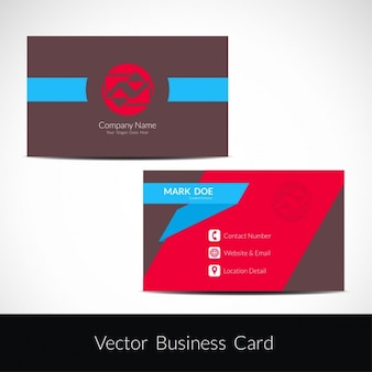 Business card with abstract shapes