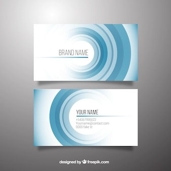 Business card with blue circles
