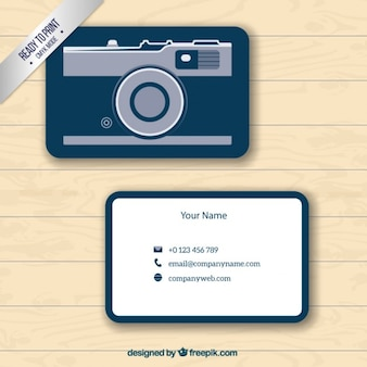Business card with camera form