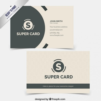 Business card with circular logo