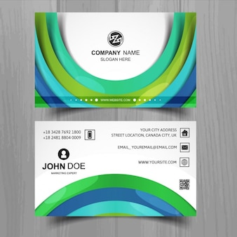 Business card with circular shapes